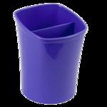 Стакан для письменных принадлежностей ZiBi Kavdrik, 2 отделения, фиолетовый (ZB.3001-07)