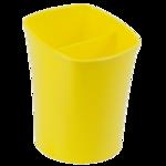 Стакан для письменных принадлежностей ZiBi Kavdrik, 2 отделения, желтый (ZB.3001-10)