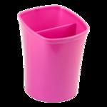 Стакан для письменных принадлежностей ZiBi Kavdrik, 2 отделения, розовый (ZB.3001-10)