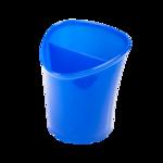 Стакан для письменных принадлежностей ZiBi Tetrik, 2 отделения, синий (ZB.3002-02)