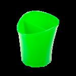 Стакан для письменных принадлежностей ZiBi Tetrik, 2 отделения, зеленый (ZB.3002-04)