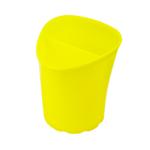 Стакан для письменных принадлежностей ZiBi Tetrik, 2 отделения, желтый (ZB.3002-08)