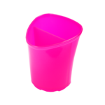 Стакан для письменных принадлежностей ZiBi Tetrik, 2 отделения, розовый (ZB.3002-10)