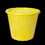 Корзина для бумаг ZiBi, 8 л, пластик, желтый (ZB.3040-08)