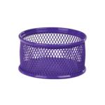Подставка для скрепок ZiBi, металлическая, сетка, фиолетовый (ZB.3111-07)