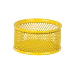 Подставка для скрепок ZiBi, металлическая, сетка, желтый (ZB.3111-08)