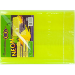 Обложка для книги ZiBi Neon 250х420 мм с клапаном, PVC, желтый (ZB.4750-08)