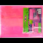 Обложка для тетради ZiBi Neon, А5 с клапаном, PVC, розовый (ZB.4760-10)