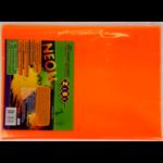 Обложка для книги ZiBi Neon 250х420 мм с клапаном, PVC, оранжевый (ZB.4750-11)