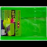 Обложка для книги ZiBi Neon 250х420 мм с клапаном, PVC, салатовый (ZB.4750-15)