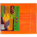 Обложка для тетради ZiBi Neon, А5 с клапаном, PVC, оранжевый (ZB.4760-11)