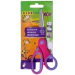 Ножницы детские ZiBi 152 мм с гибким резиновым кольцом и резиновыми вставками Розовые (ZB.5015-10)