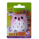 Точилка ZiBi Kids Line Сова с контейнером, 2 отв., блистер, розовый (ZB.5577-5)