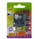 Точилка ZiBi Kids Line Машина Mini с контейнером, 2 отв., блистер, салатовый (ZB.5584-5)