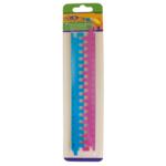 Линейка-пазл пластиковая ZiBi, 20 см, синий+розовый (ZB.5605-02)