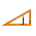 Угольник ZiBi Teacher, 50см, 90/60 градусов, для школьной доски, желтый  (ZB.5638)