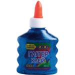 Клей ZiBi Глиттер цветной прозрачный 88 мл Синий (ZB.6116-02)