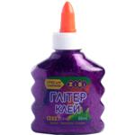 Клей ZiBi Глиттер цветной прозрачный 88 мл Фиолетовый (ZB.6116-07)