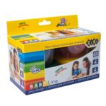 Тесто для лепки Zibi Baby Line, 4 стаканчика по 100г, в картонной упаковке (ZB.6251)