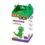 Набор воздушного пластилина для детского творчества ZiBi Анкилозаврик 6 стиков Kids Line (ZB.6259)
