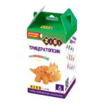 Набор воздушного пластилина для детского творчества ZiBi Трицератопсик 6 стиков Kids Line (ZB.6261)
