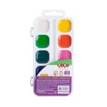 Акварельные водорастворимые краски ZiBi на белой палитре 10 цветов Kids Line (ZB.6543-10)