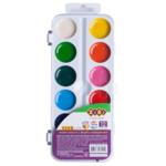 Акварельные водорастворимые краски ZiBi на палитре, 12  цветов,   белая . KIDS Line (ZB.6544-08)