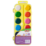 Акварельные водорастворимые краски ZiBi на желтой палитре 12 цветов Kids Line (ZB.6544-15)