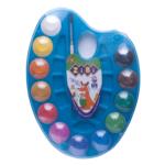 Краски акварельные на палитре ZiBi, + кисть, 12 цветов, синяя (ZB.6558-02)