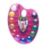 Краски акварельные на палитре ZiBi, + кисть, 12 цветов, розовая (ZB.6558-10)