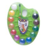 Краски акварельные на палитре ZiBi, + кисть, 12 цветов, салатовая (ZB.6558-15)