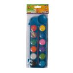 Краски акварельные ZiBi ZB.6559-02, 12 цветов, + кисть, синий
