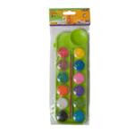Краски акварельные ZiBi ZB.6559-15, 12 цветов, + кисть, салатовый