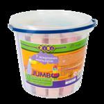 Мел цветной ZiBi Jumbo ZB.6714-99, квадратный, в ведре, 21 шт
