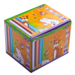 Мел белый+цветной Zibi Kids Line,круглый, 100 шт, картонная коробка (ZB.6718-99)