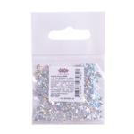 Блестки ZiBi (Глитер) ЗВЕЗДОЧКИ, серебро 1г. в кульке (ZB.6801-24)