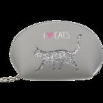 Пенал ZiBi CAT LOVER, 21x12x8 см, серый (декор: глиттерный кот) (ZB.702204)