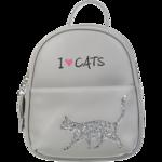 Рюкзак ZiBi CAT LOVER 24x21x8 см, серый (декор: глиттерный кот) (ZB.702302)