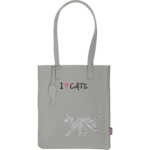 Сумка на плечо ZiBi Cat Lover декорированная глиттером 29x35x3 см Серая (ZB.702403)