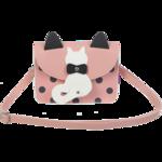 Сумка на плечо маленькая ZiBi PUSSY CAT,19x15x6,5 см, розовая (декор: кот с подвижным хвостом) (ZB.702405)