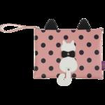 Папка А5 ZiBi PUSSY CAT, 24x28x1,5 см, розовая (декор: кот с подвижным хвостом) (ZB.702501)