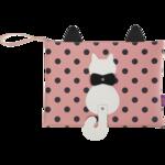 Папка А4 ZiBi PUSSY CAT, 33x24x1,5 см, розовая (декор: кот с подвижным хвостом) (ZB.702502)