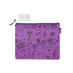 Папка для тетрадей ZiBi School А5 тканевая на молнии фиолетовая (ZB.705530-07)