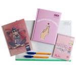Набор блокнотов Pink Love в папке ZiBi Kids Line А5 A6 в клетку 64 листа (ZB.9974)