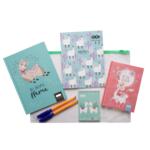 Набор блокнотов Cute Llama в папке ZiBi Kids Line в клетку 64 листа (ZB.9975)