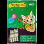Папка для труда ZiBi Happy Cat, А4+, картонная, на резинке (ZB17.14909)