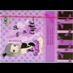 Папка для тетрадей ZiBi Cute Girl, B5+, картонная, на резинке (ZB17.14953)