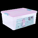 Контейнер Алеана Smart Box с декором Pet Shop 7,9 л (al.124046-проз/рож/бір)
