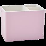 Подставка для столовых приборов Алеана Плюс на 3 секции 15,5х10х11,5 см (al.169075-фрезия/б.роза)