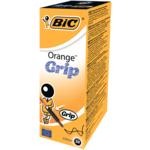 Ручка шариковая BiC Orange Grip шестигранный корпус с резиновым грипом Черная (bc811925)